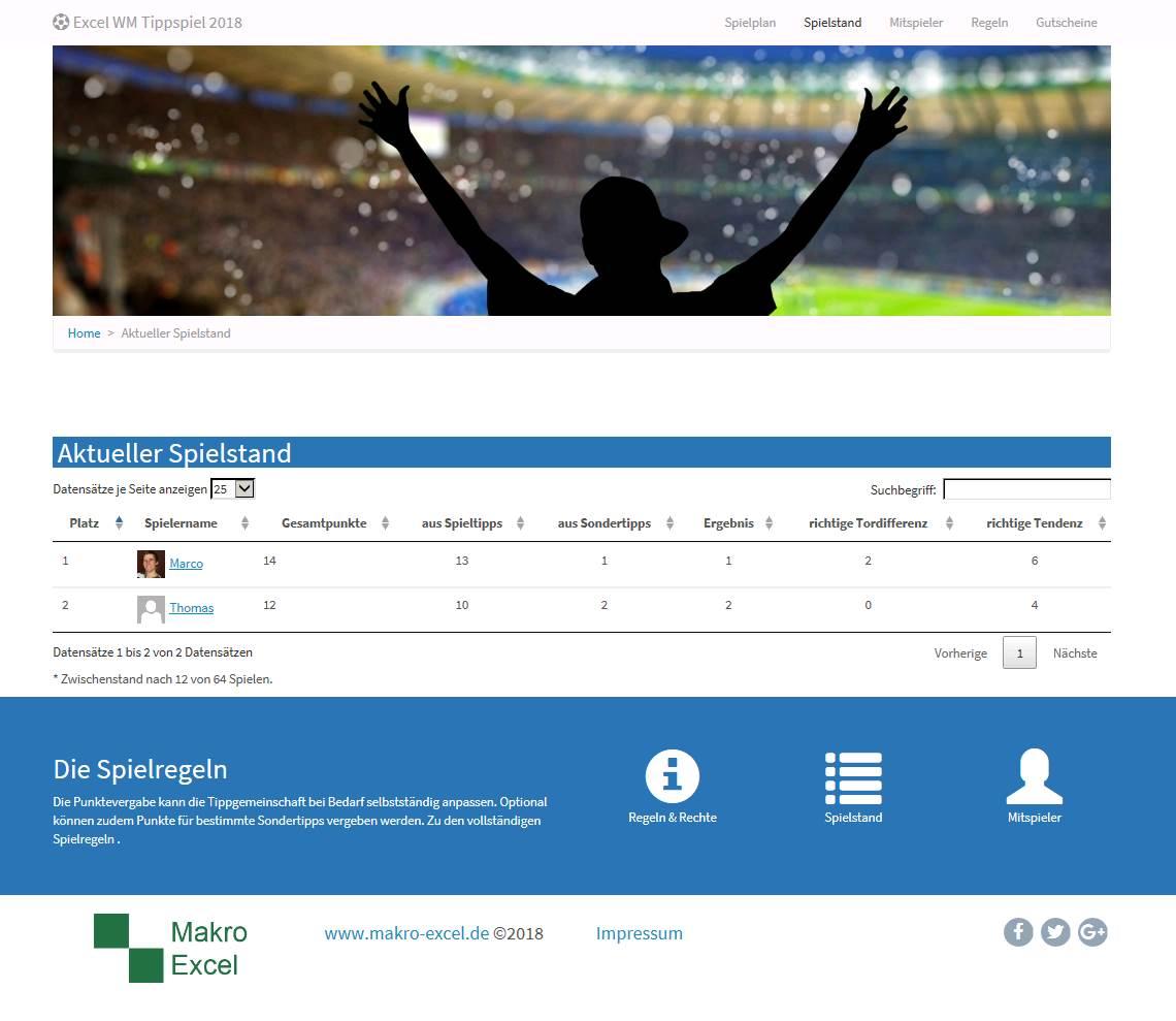 Excel EM Tippspiel 2021