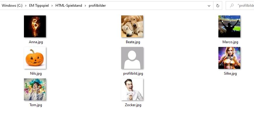 Profilbilder hinzufügen