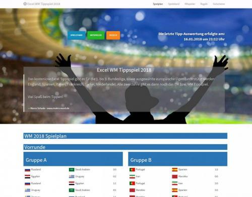 HTML Spielplan